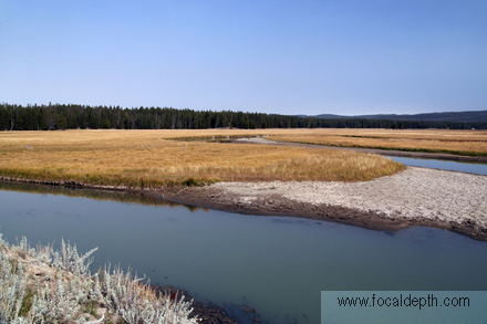 Yellowstone - View across Pelican Valley near Yellowstone Lake