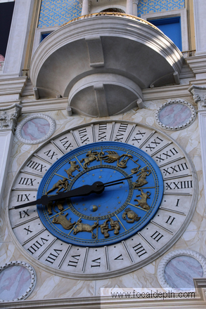 USA - Clock outside the Venetian Resort Hotel on Las Vegas, similar to the one in St Mark's Square