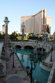 USA - Looking across the front of The Venetian across The Strip towards Treasure Island, or T.I., Las Vegas