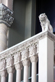 USA - A lion, the symbol of Saint Mark, looking down from the front of The Venetian Resort Hotel, Las Vegas