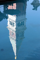 USA - Reflection of the copy of Venice's Bell Tower, The Venetian Resort Hotel, Las Vegas