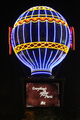 USA - Neon sign in form of the Montgolfier Balloon, Paris Las Vegas, Las Vegas